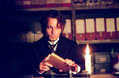 Johnny Depp as Inspector Fred Abberline in 20th Century Fox's From Hell