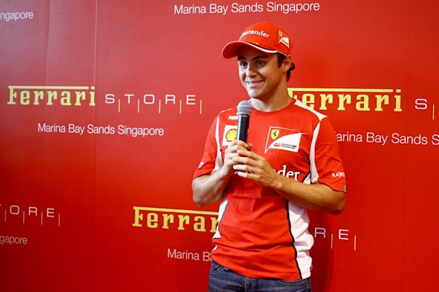 Felipe Massa at the Ferrari store at the Marina Bay Sands (Cheryl-Tay.com)