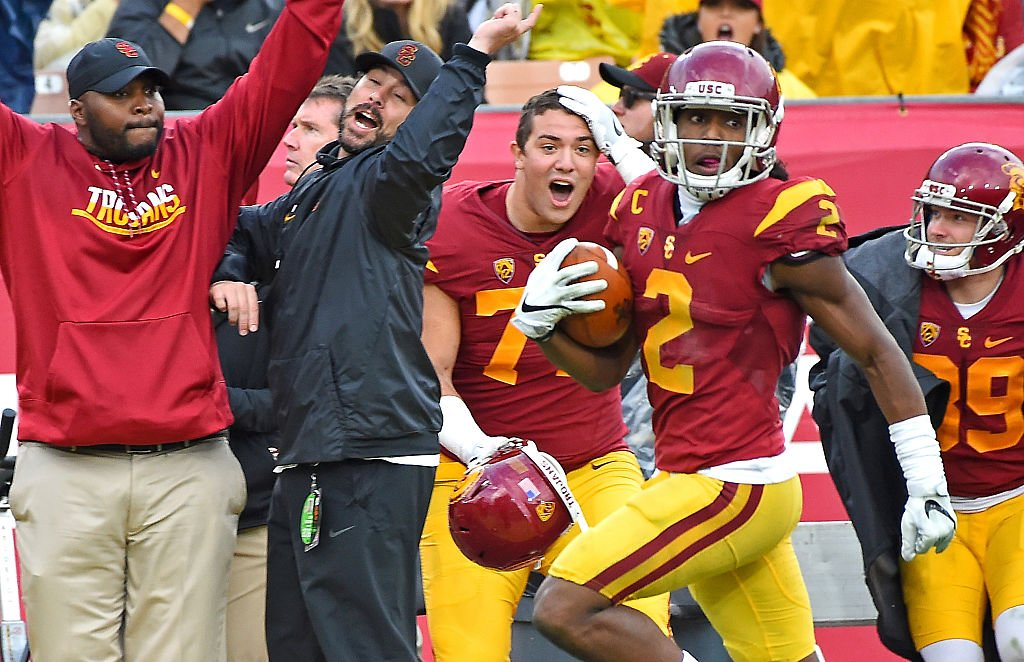 Adoree' Jackson was a major contributor on offense, defense and special teams for the Trojans. (Photo by Jayne Kamin-Oncea/Getty Images)