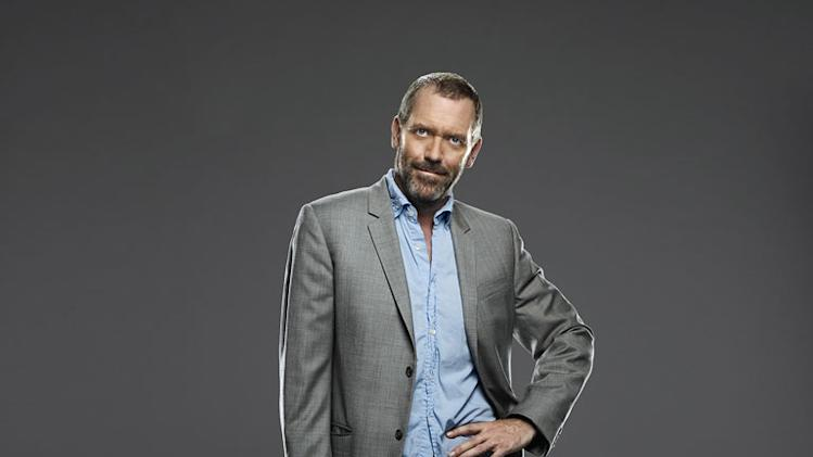 "Hugh Laurie as Dr. Gregory House in ""House."""