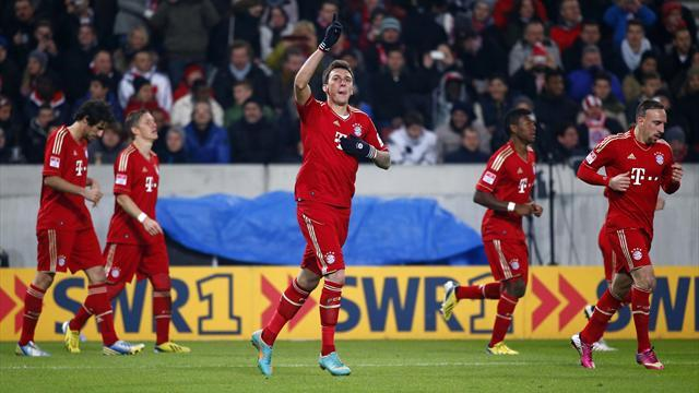 German Bundesliga  - Bayern race 11 clear after Mandzukic magic
