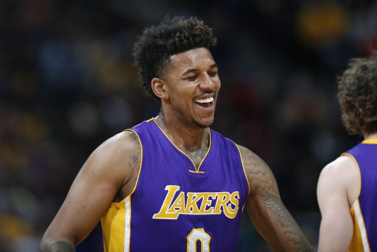 Nick Young went down with a potentially serious injury on Tuesday. (Associated Press)