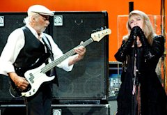 John McVie, Stevie Nicks | Photo Credits: Tim Mosenfelder/Getty Images
