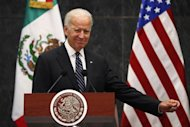 U.S. Vice President Joe Biden gestures after a meeting with Mexico's President Enrique Pena Nieto at Los Pinos Presidential Residence in Mexico City September 20, 2013. REUTERS/Edgard Garrido