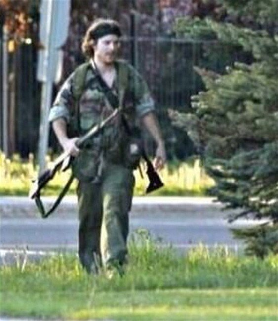 Suspect Justin Bourque is pictured in a photo tweeted by the RCMP on Wed. June 4, 2014