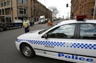 File illustration photo shows a police car in Sydney. Australian police Monday renewed calls for calm after two Aboriginal teenagers were shot in Sydney's red-light district, saying footage of the incident was shocking but had to be judged in context