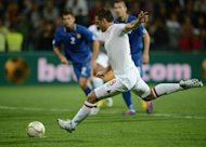Frank Lampard of England takes a penalty against Moldova during their World Cup 2014 qualifier football match in Chisinau. Lampard ensured England made a smooth start on the road to Brazil as the Chelsea midfielder bagged a brace in his side's 5-0 demolition of Moldova