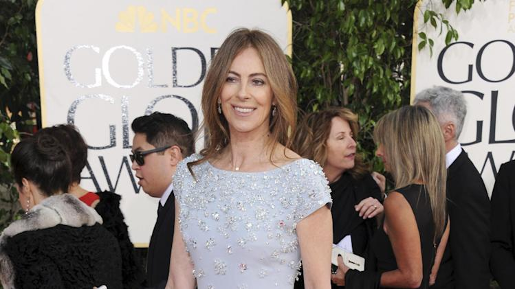 Director Kathryn Bigelow arrives at the 70th Annual Golden Globe Awards at the Beverly Hilton Hotel on Sunday Jan. 13, 2013, in Beverly Hills, Calif. (Photo by Jordan Strauss/Invision/AP)