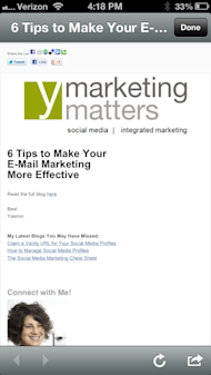 6 Tips to Make Your E Mail Marketing More Effective image Mobile Rendering of Blog
