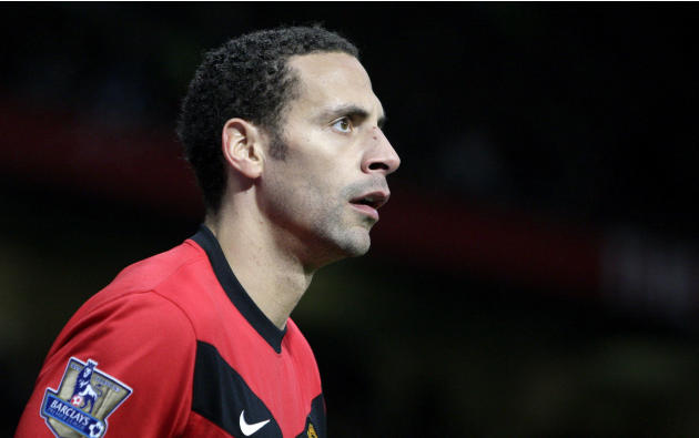 FILE - In this Saturday Jan. 23, 2010 file photo Manchester United's Rio Ferdinand is seen during his team's English Premier League soccer match against Hull City at Old Trafford Stadium, Manchester,