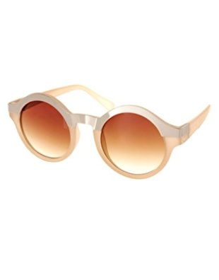 ASOS Metal Top Keyhole Round Sunglasses