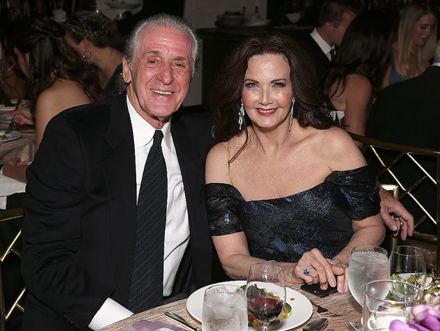 Pat Riley and wife Chris. (Getty Images)