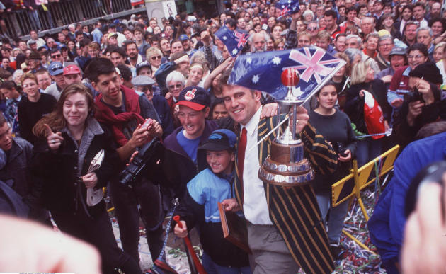 Tickertape Parade For Australian Cricket Team