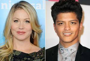 Christina Applegate, Bruno Mars | Photo Credits: Gregg DeGuire/FilmMagic; Steve Granitz/WireImage.com
