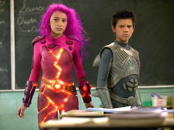Taylor Dooley as Lavagirl and Taylor Lautner as Sharkboy in Dimension Films' The Adventures of Sharkboy and Lavagirl in 3-D