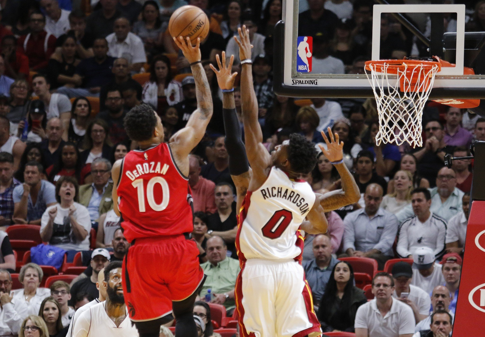 No matter how closely the Heat contested his shots, DeMar DeRozan just couldn't be stopped. (AP)
