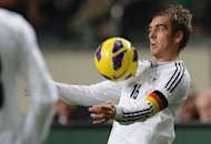German defender Philipp Lahm controls the ball during the friendly football match Netherlands vs Germany on November 14, 2012 in Amsterdam. Lahm has said he can imagine finishing his career at the Bavarian giants and has given no thought to leaving