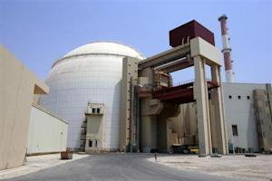 A general view of the Bushehr nuclear power plant