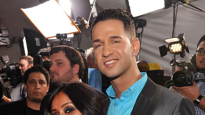 Nicole 'Snooki' Polizzi and Mike 'The Situation' Sorrentino arrive at the 52nd Annual GRAMMY Awards held at Staples Center on January 31, 2010 in Los Angeles, California.