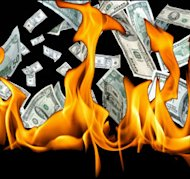 Are Your Marketing Dollars Buying Customers or Just Borrowing Them? image burning marketing money