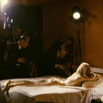 Shirley Eaton stars as Jill Masterson in Goldfinger