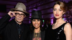 Johnny Depp, Linda Perry and Amber Heard at the Art of Elysium Heaven Gala