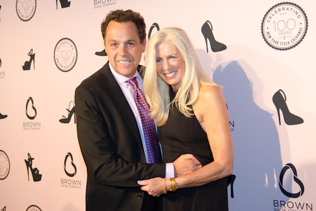 CORRECTS DATE - Sam Edelman and Libby Edelman attend the Brown Shoe Company's 100th anniversary on the New York Stock Exchange celebration at 4 World Trade Center on Wednesday, April 23, 2014 in N