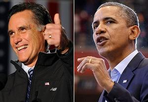 Mitt Romney, Barack Obama | Photo Credits: Emmanuel Dunand, AFP/Getty Images, Jewel Samad/AFP/Getty Images