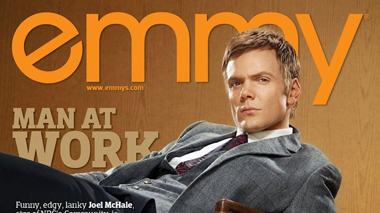 Joel McHale in Emmy Magazine
