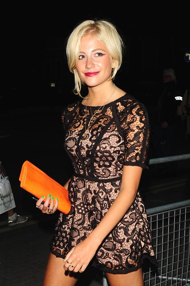 Pixie Lott in a lace dress