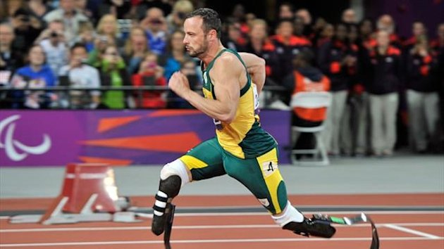 Oscar Pistorius at the London Paralympic Games (AFP)