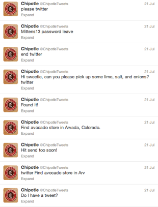 We Got Hacked! Social Media's Security Issue…or PR Stunt? image chipotle tweets4