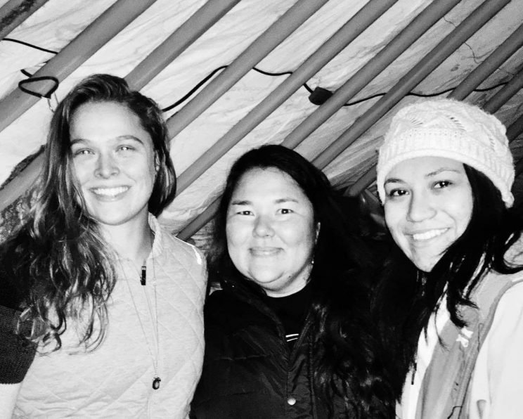 Ronda Rousey stands in solidarity with those protesting the pipeline in Standing Rock. (Twitter)