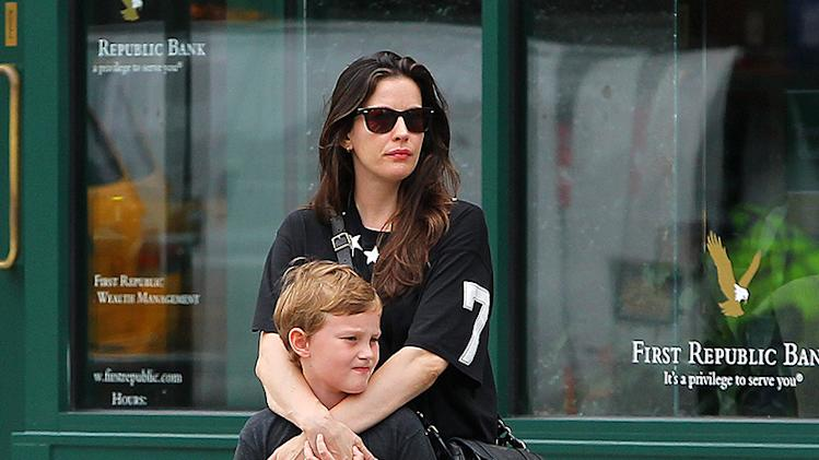 Liv Tyler and son Milo spend quality time together before bumping into Mario Batali
