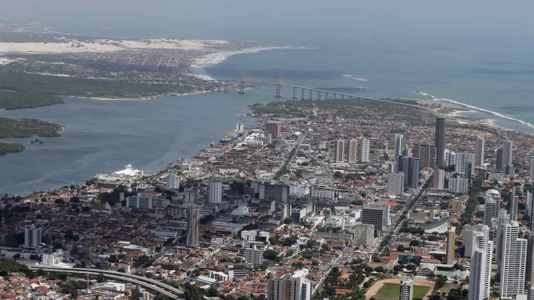 An aerial view shows Natal city