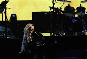 Carol King performs at the 2013 Rock and Roll Hall of Fame induction ceremony in Los Angeles