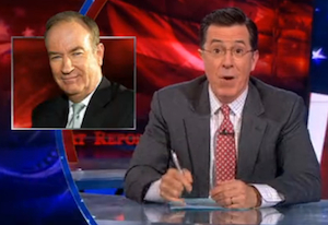 Stephen Colbert Lampoons Bill O'Reilly for Flip-Flopping on Gay Marriage (Video)