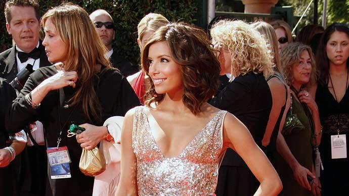 Eva Longoria arrives at the 59th Annual Primetime Emmy Awards at the Shrine Auditorium on September 16, 2007 in Los Angeles, California.