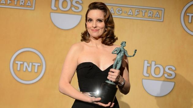 Tina Fey attends the 19th Annual Screen Actors Guild Awards Press Room at The Shrine Auditorium on January 27, 2013 in Los Angeles, California. (Photo by Getty Images)  --