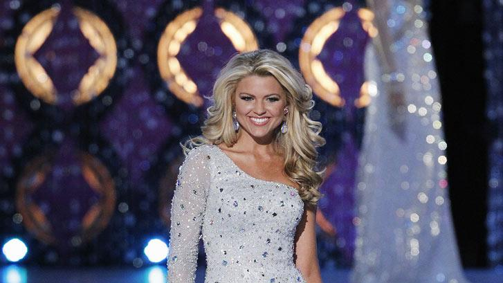 Erin Hatley, Miss Tennessee, competes as one of the top 10 in the evening gown competition during the The 2012 Miss America Pageant at the Planet Hollywood Resort & Casino on January 14, 2012 in Las Vegas, Nevada.