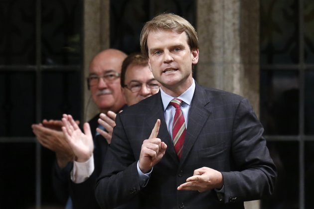 Immigration Minister Chris Alexander speaking during Question Period REUTERS/Chris Wattie