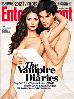 Nude Ian Somerhalder Cups Nina Dobrev's Breast for Racy Magazine Cover