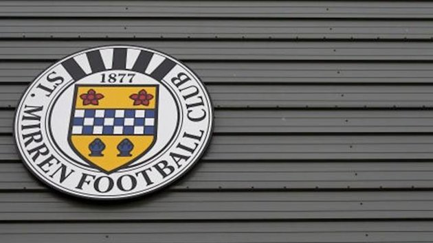 A view of the St Mirren logo at St Mirren Park