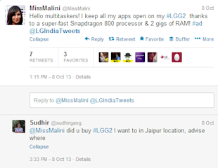 How White Good Brands are Managing their Customer Support on Social Media image LG India Twitter Support