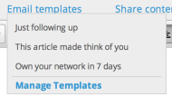 9 Novel Ways Entrepreneurs Use Email Templates to Grow Their Business image Screen Shot 2013 08 28 at 4.58.07 PM