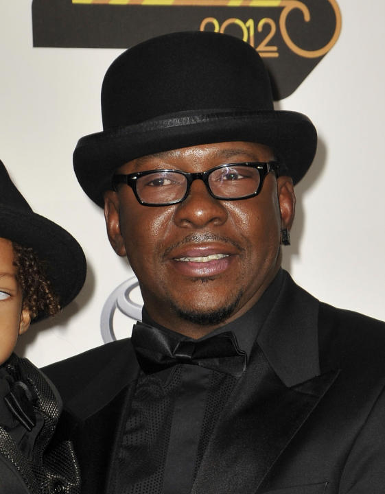 FILE - In this Thursday, Nov. 8, 2012 file photo, singer Bobby Brown, arrives at the Soul Train Awards at Planet Hollywood Resort and Casino in Las Vegas. Brown is leaving a reunion tour with the grou