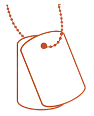 Keep My Info Safe image dogtags