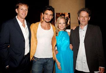 Kip Pardue , Pell James , Steven Strait and director Meiert Avis at the Hollywood premiere of Lions Gate Films' Undiscovered