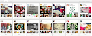 5 Reasons Why Starbucks' Pinterest Strategy is Not A Big Hit image Starbucks Board Search
