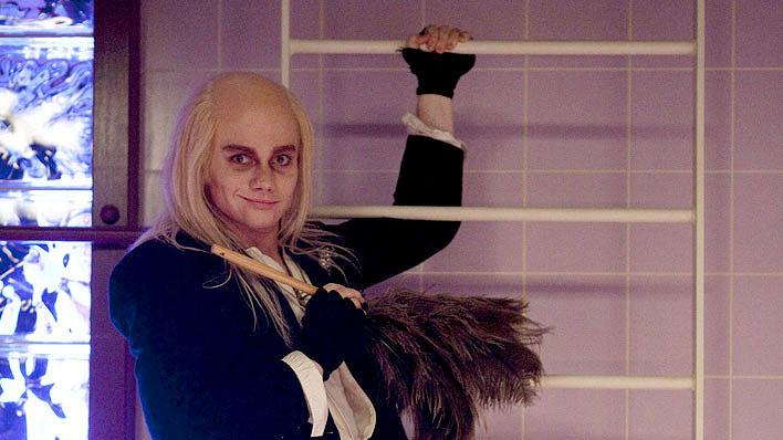 "Kurt (Chris Colfer) as Riff Raff in ""The Rocky Horror Glee Show"" episode of ""Glee."""